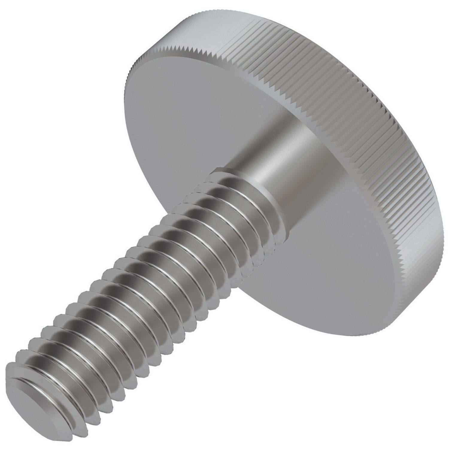 Flat Knurled Thumb Screws- Steel